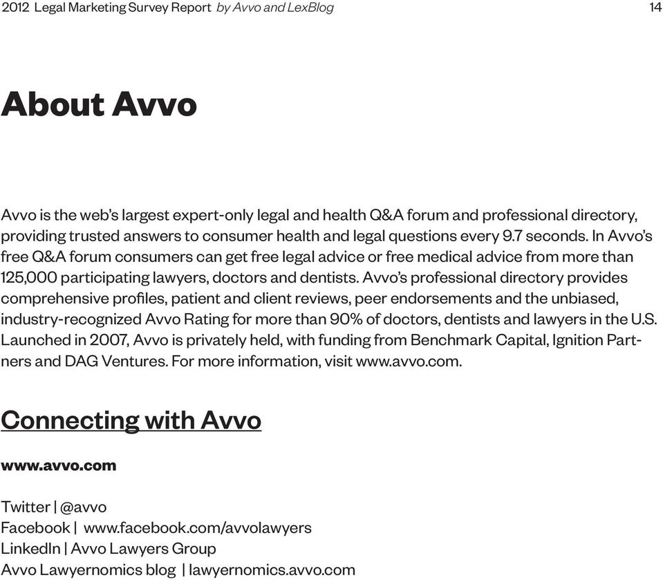 Avvo s professional directory provides comprehensive profiles, patient and client reviews, peer endorsements and the unbiased, industry-recognized Avvo Rating for more than 90% of doctors, dentists