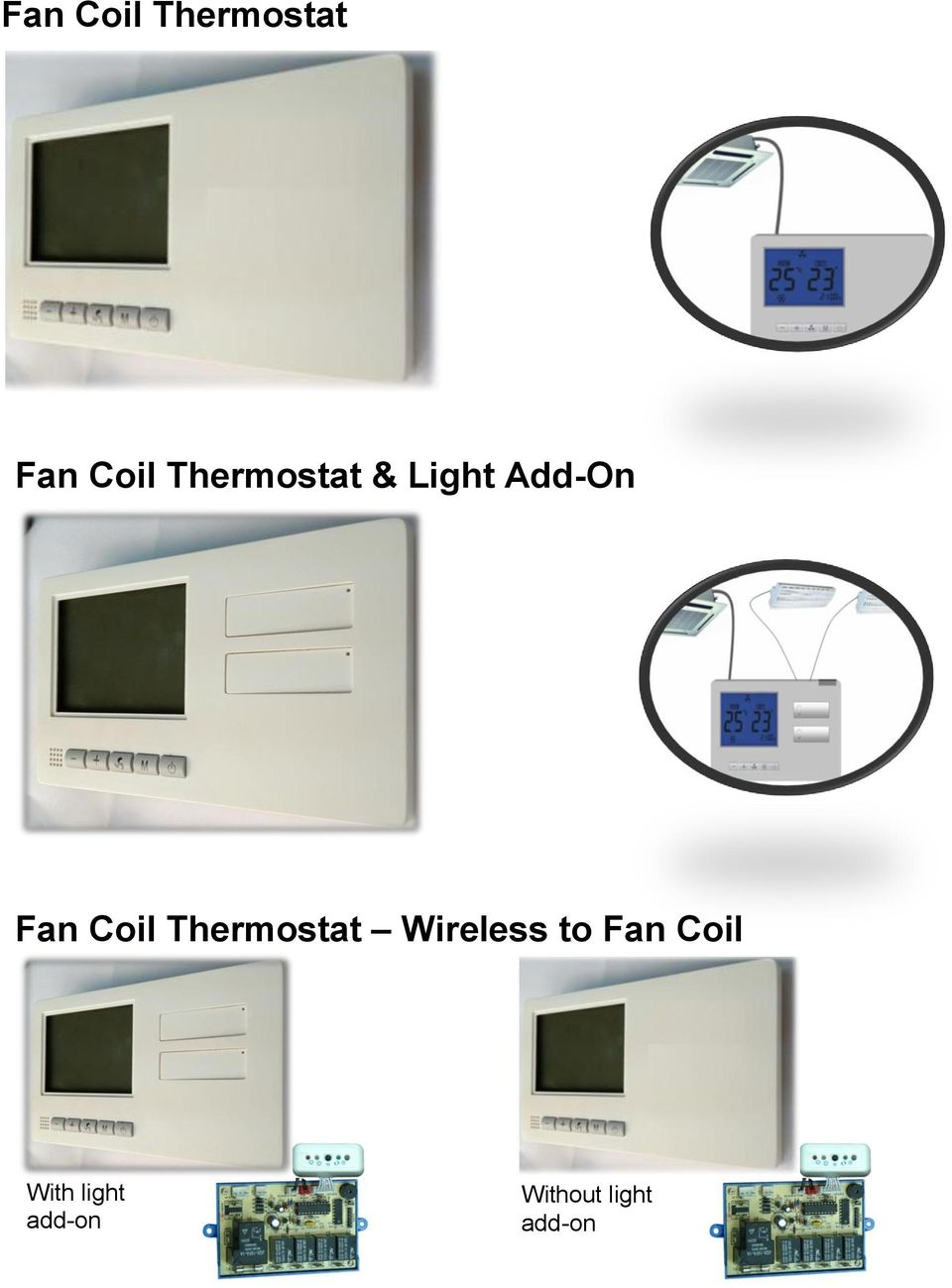Coil Thermostat Wireless to Fan