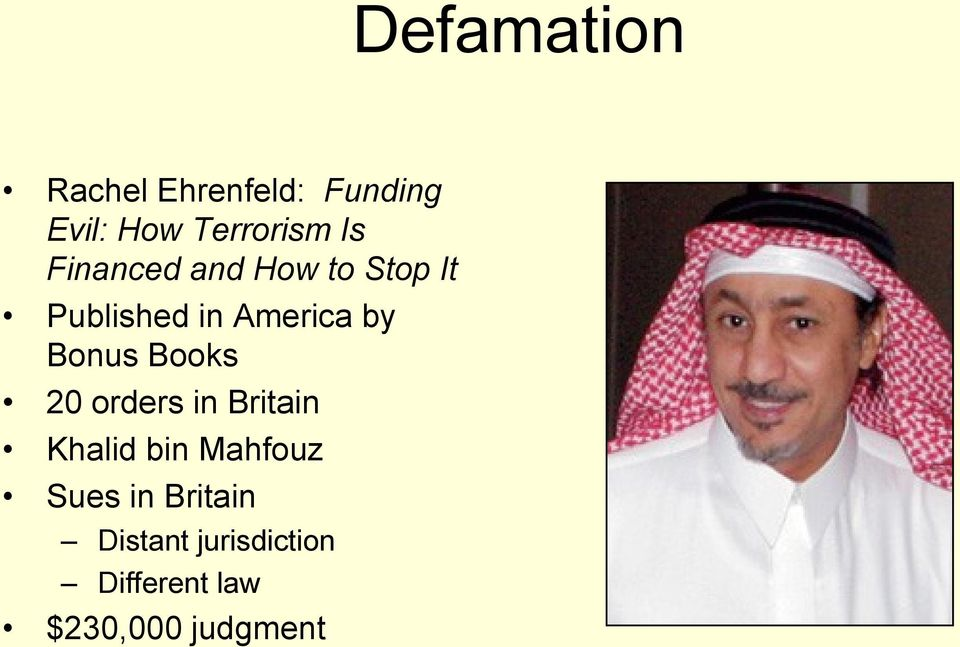 Bonus Books 20 orders in Britain Khalid bin Mahfouz Sues