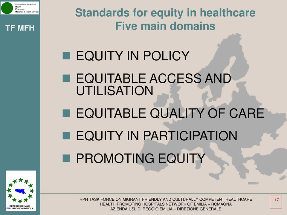 ACCESS AND UTILISATION EQUITABLE QUALITY