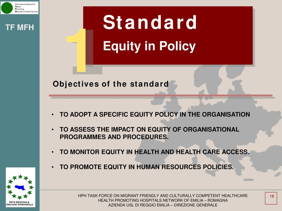 EQUITY OF ORGANISATIONAL PROGRAMMES AND PROCEDURES.