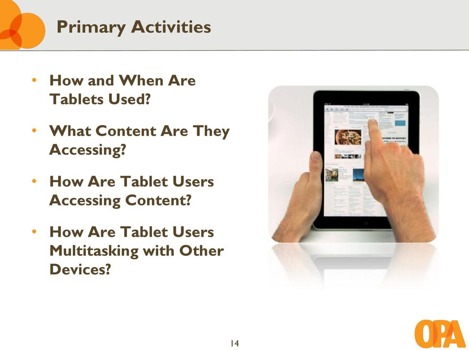 How Are Tablet Users Accessing Content?