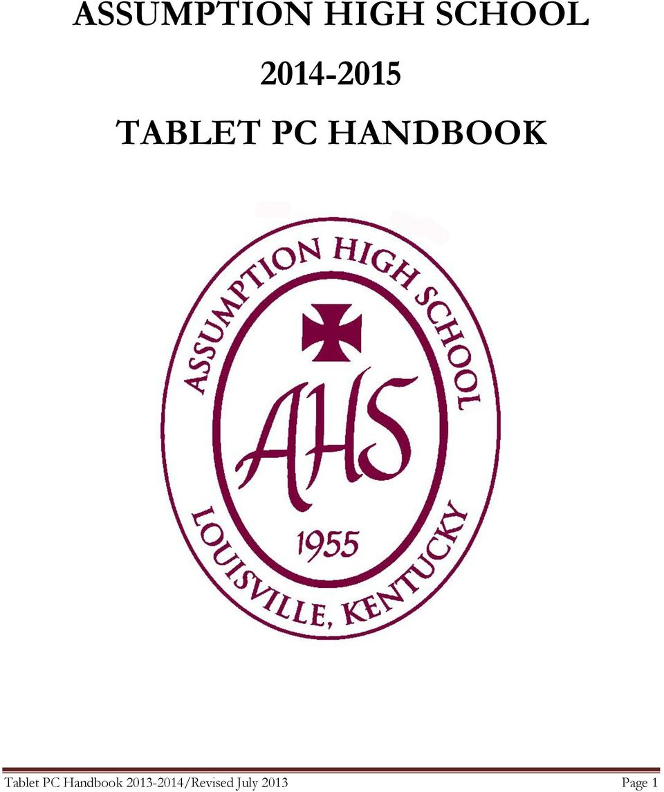 HANDBOOK Tablet PC
