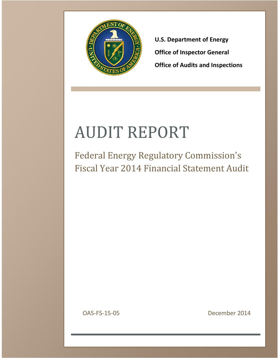 REPORT Federal Energy Regulatory Commission's