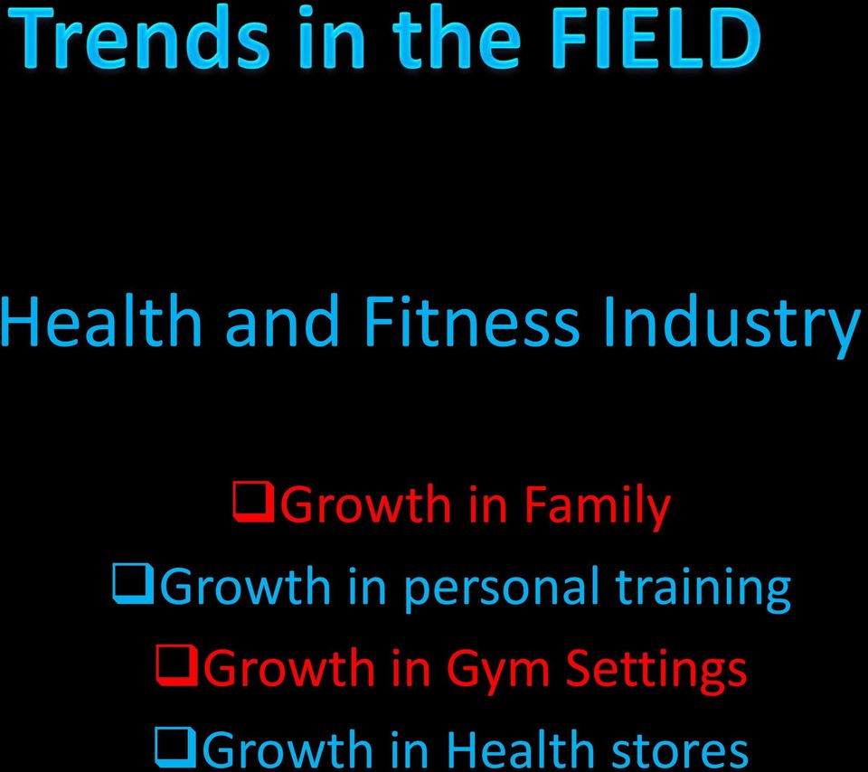 personal training Growth in