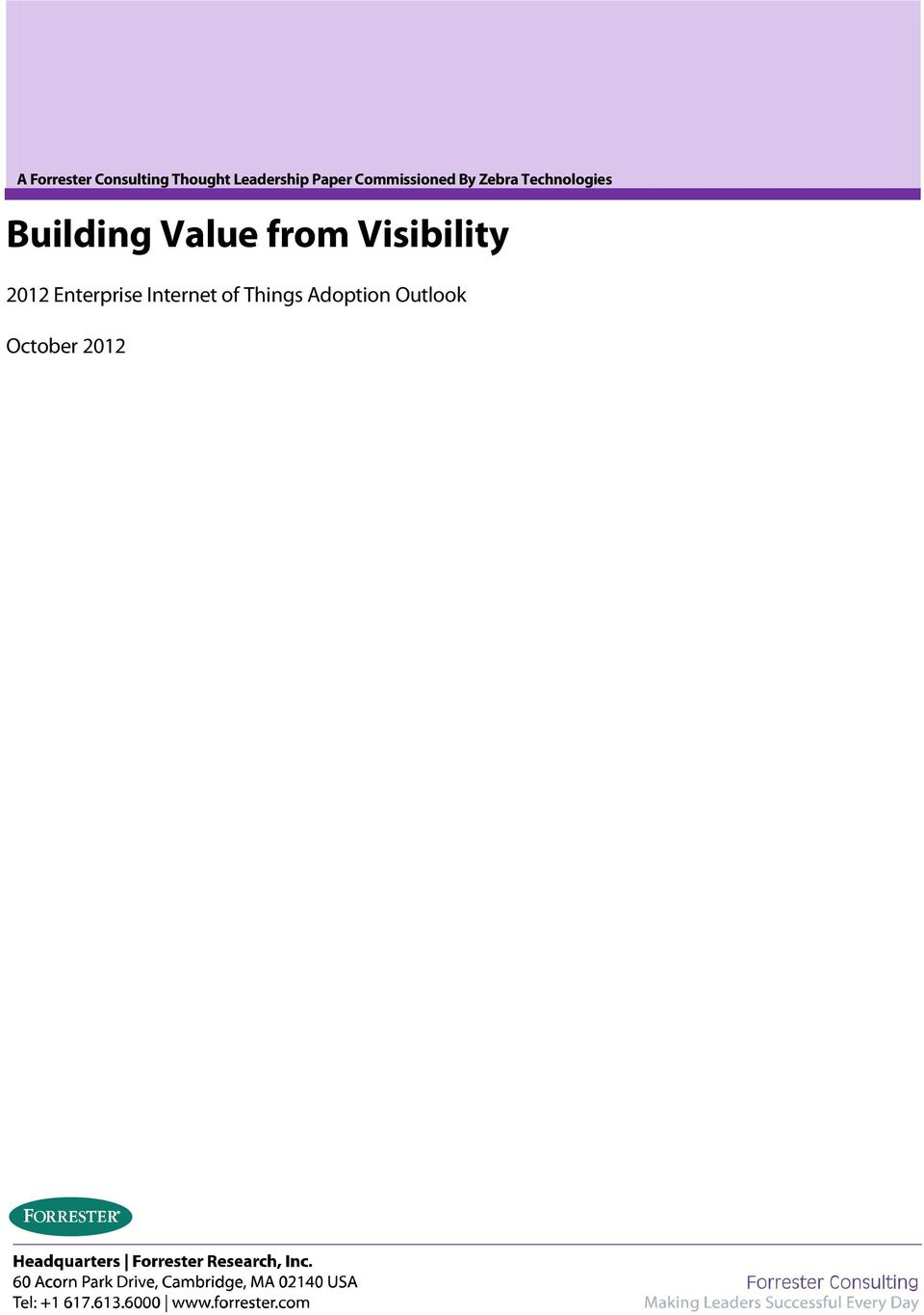 Building Value from Visibility 2012