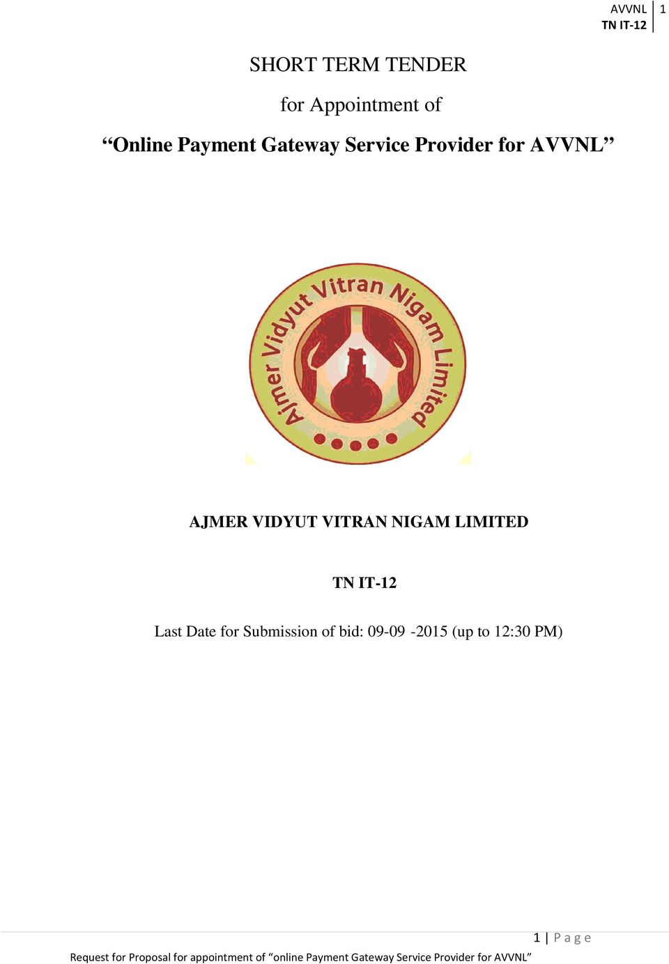VIDYUT VITRAN NIGAM LIMITED Last Date for