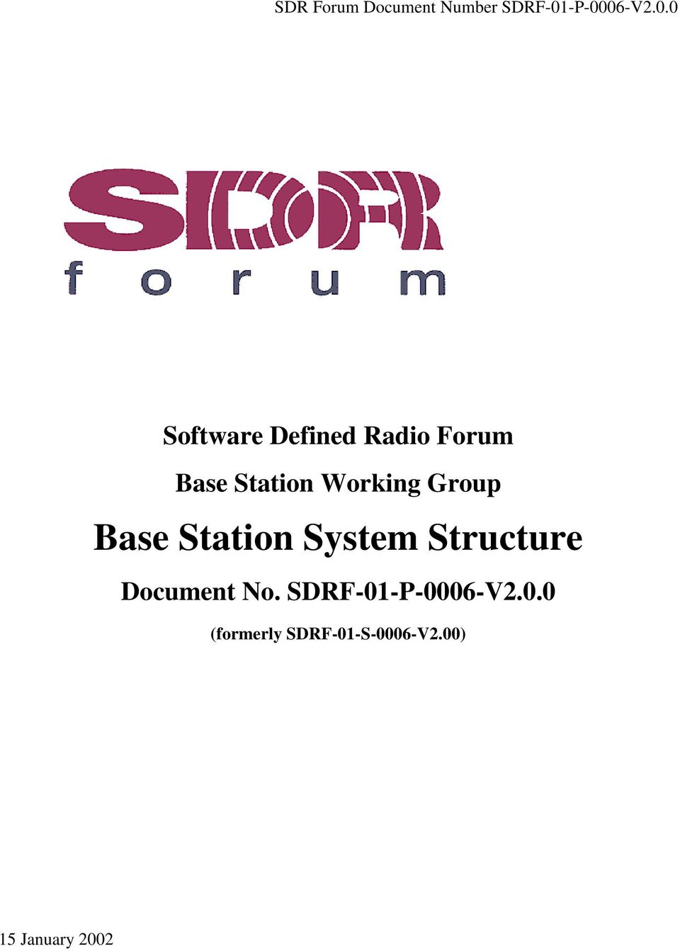 Station Working Group Base Station System Structure
