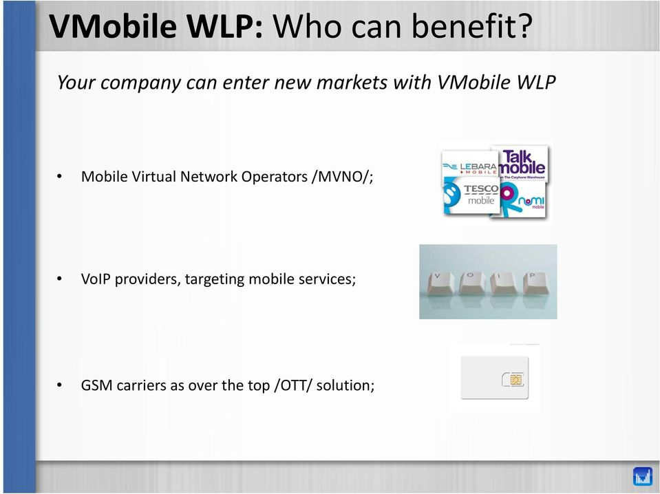 Mobile Virtual Network Operators /MVNO/; VoIP