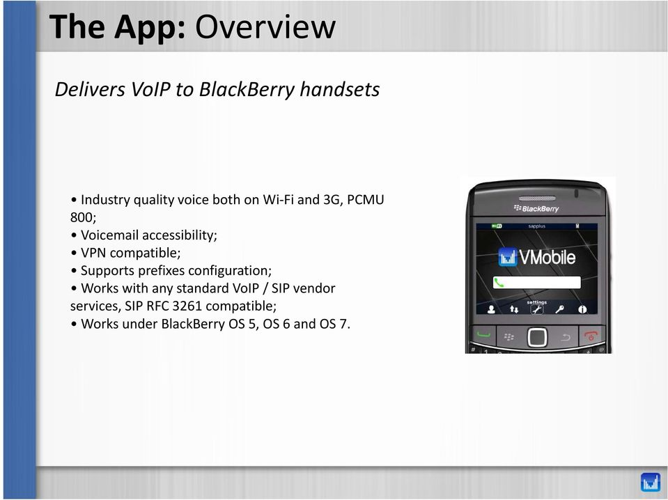 compatible; Supports prefixes configuration; Works with any standard VoIP /