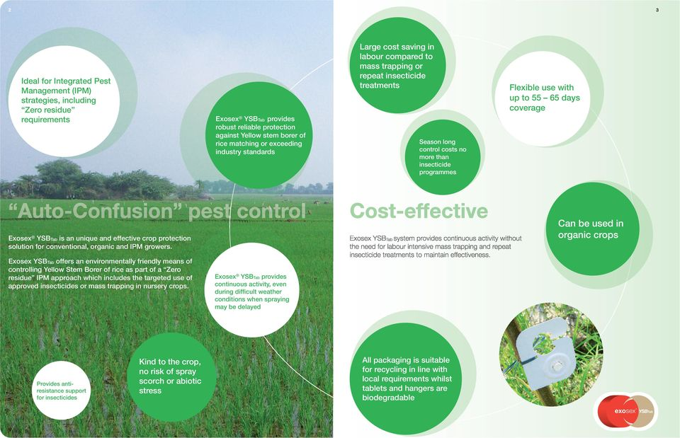 coverage Exosex is an unique and effective crop protection solution for conventional, organic and IPM growers.