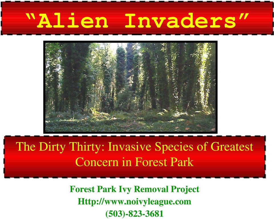 Invasive Species of