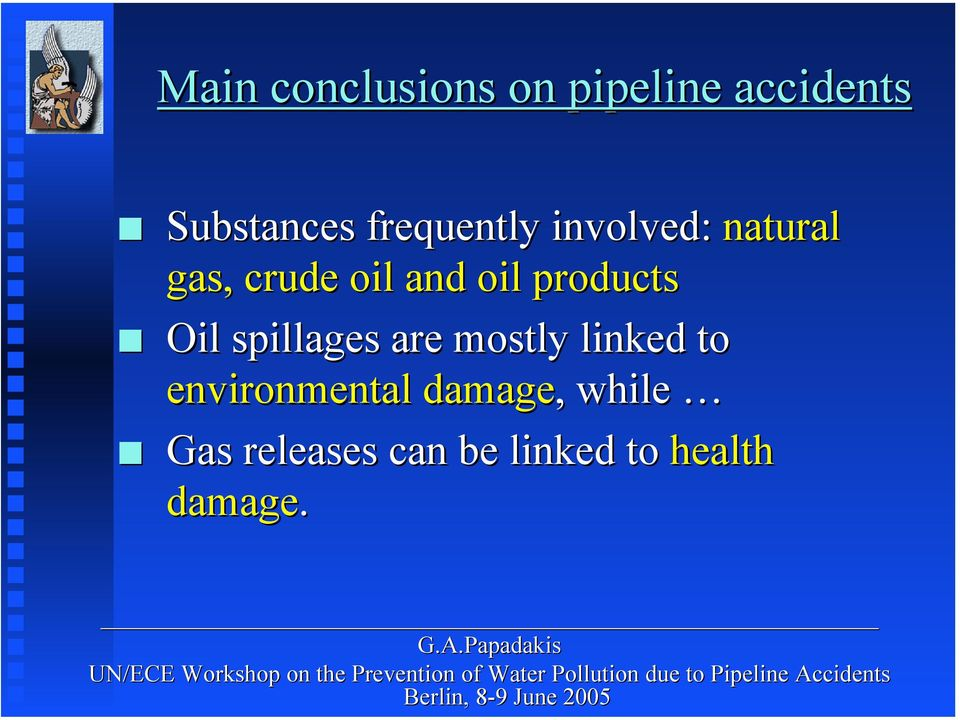 products Oil spillages are mostly linked to