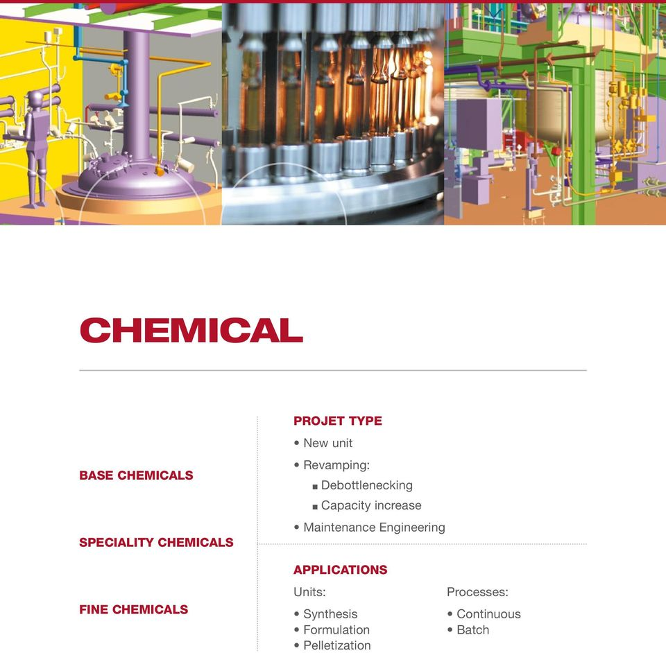 Maintenance Engineering FINE CHEMICALS APPLICATIONS Units: