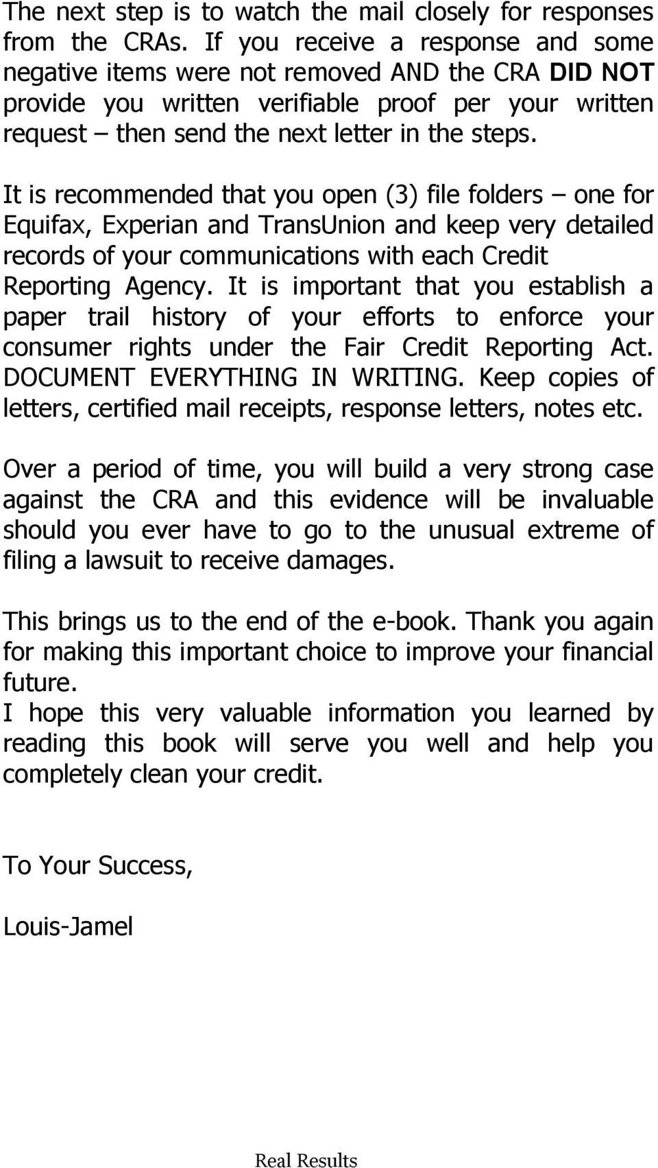Credit Inquiry Removal Letter Template