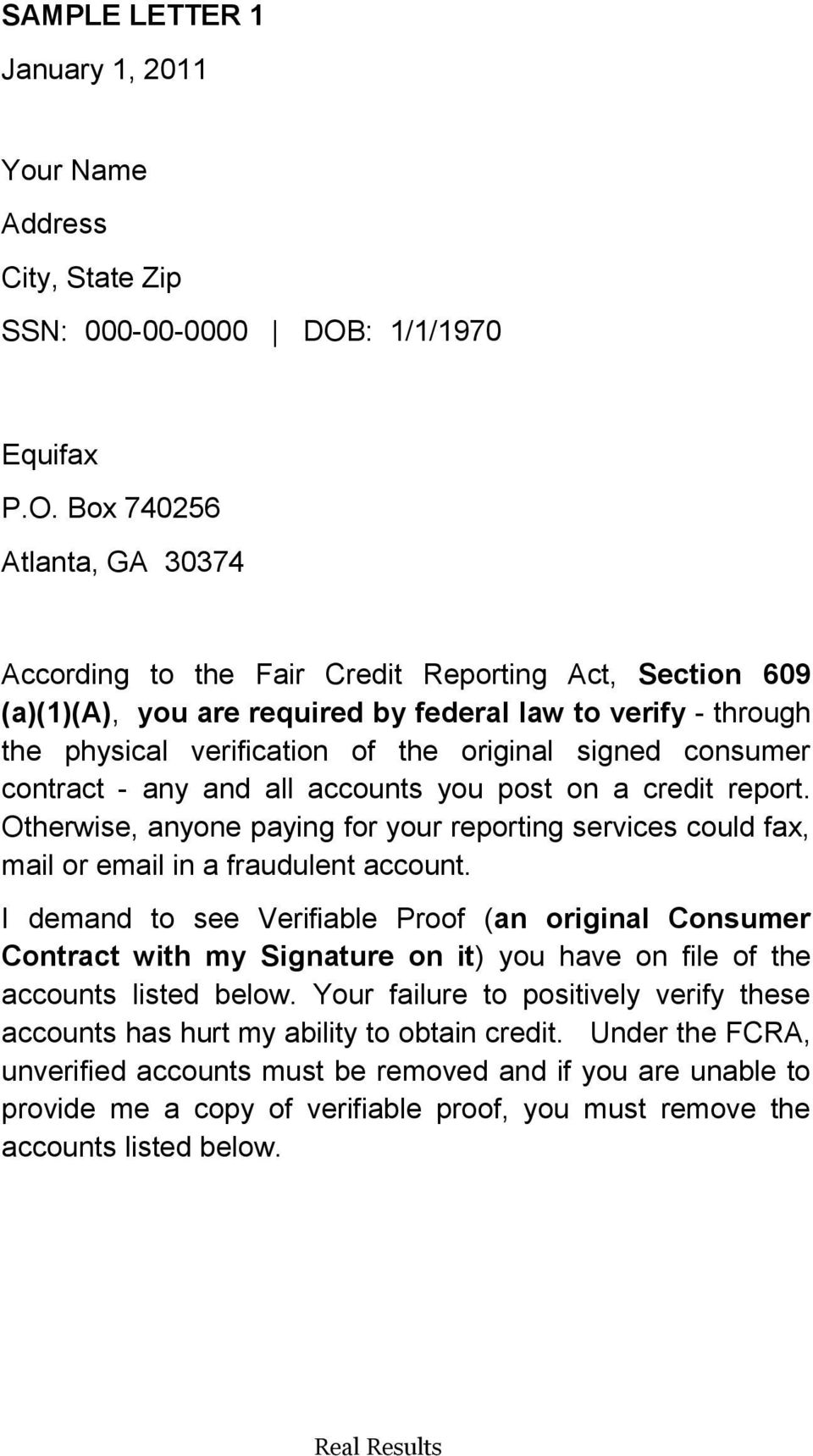 Section 609 Letter Altin Northeastfitness Co
