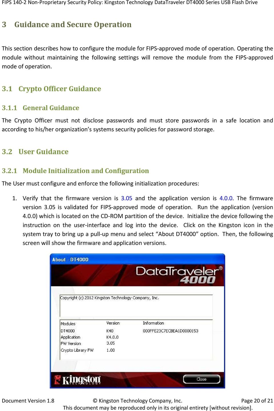 Crypto Officer Guidance 3.1.