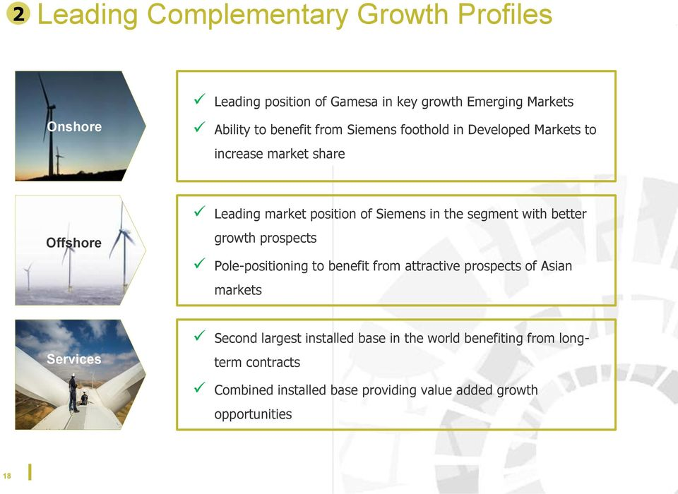 with better growth prospects Pole-positioning to benefit from attractive prospects of Asian markets Services Second largest
