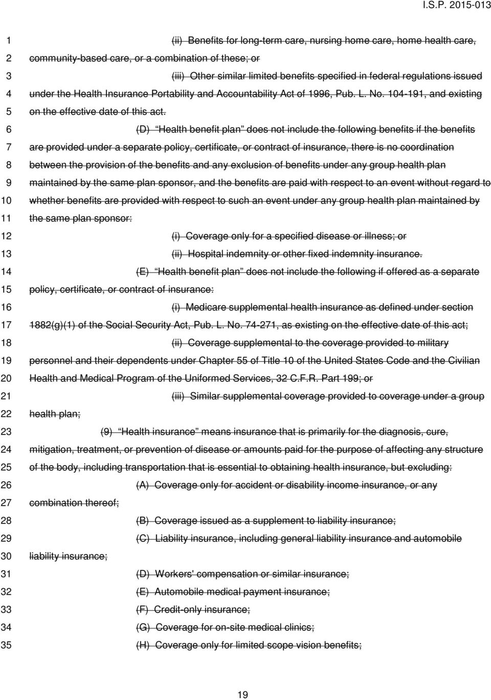 regulations issued under the Health Insurance Portability and Accountability Act of, Pub. L. No. -, and existing on the effective date of this act.