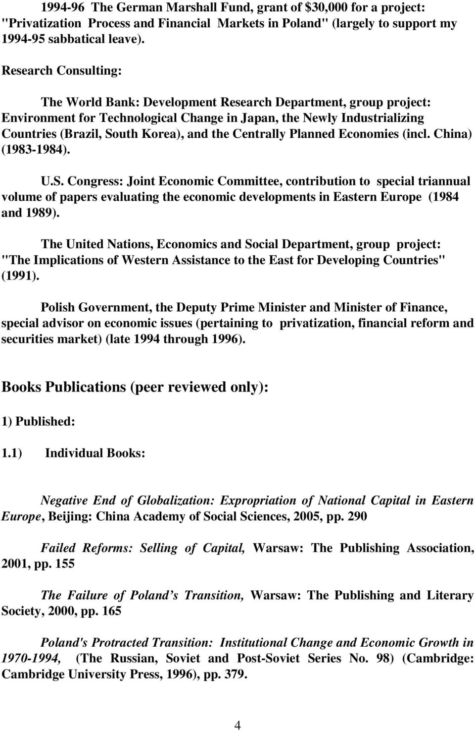 Centrally Planned Economies (incl. China) (1983-1984). U.S.