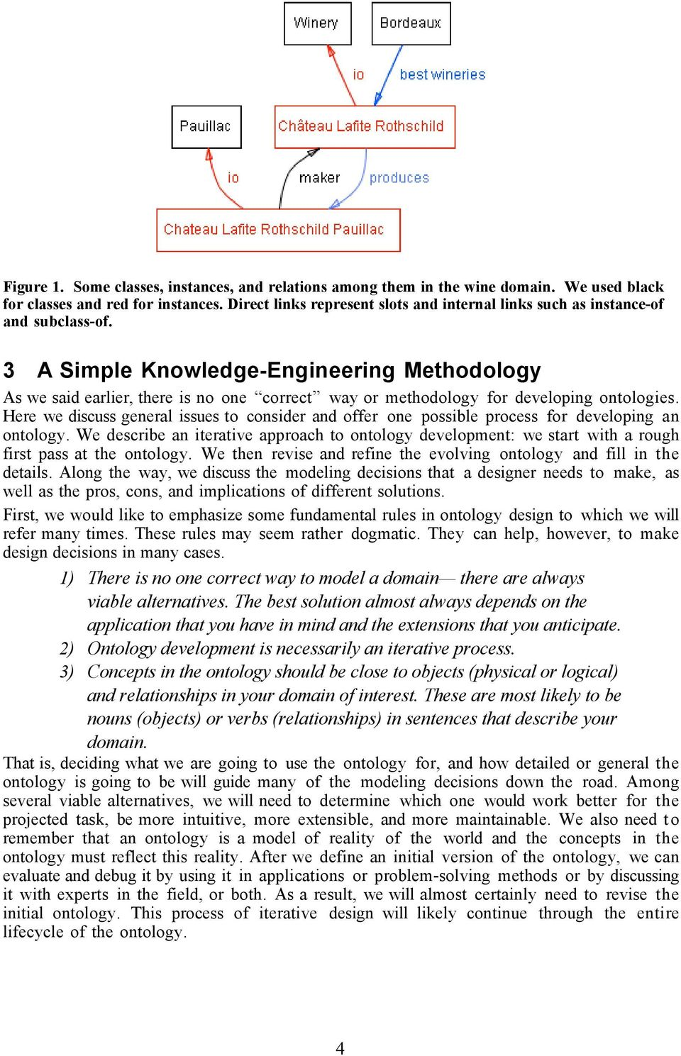 3 A Simple Knowledge-Engineering Methodology As we said earlier, there is no one correct way or methodology for developing ontologies.