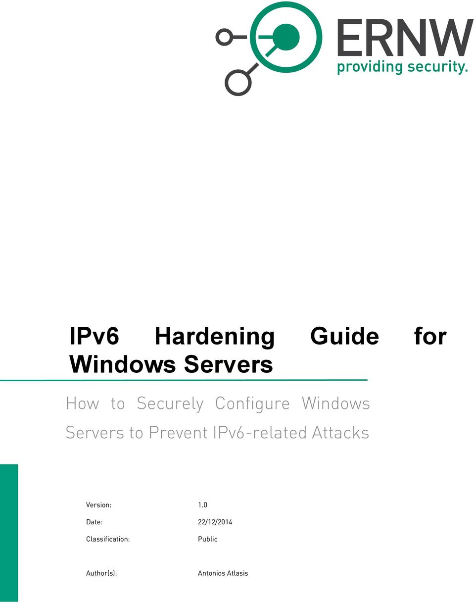 IPv6-related Attacks Version: 1.