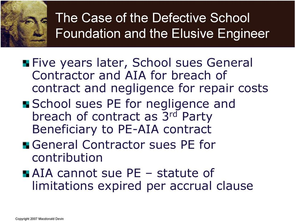 sues PE for negligence and breach of contract as 3 rd Party Beneficiary to PE-AIA contract