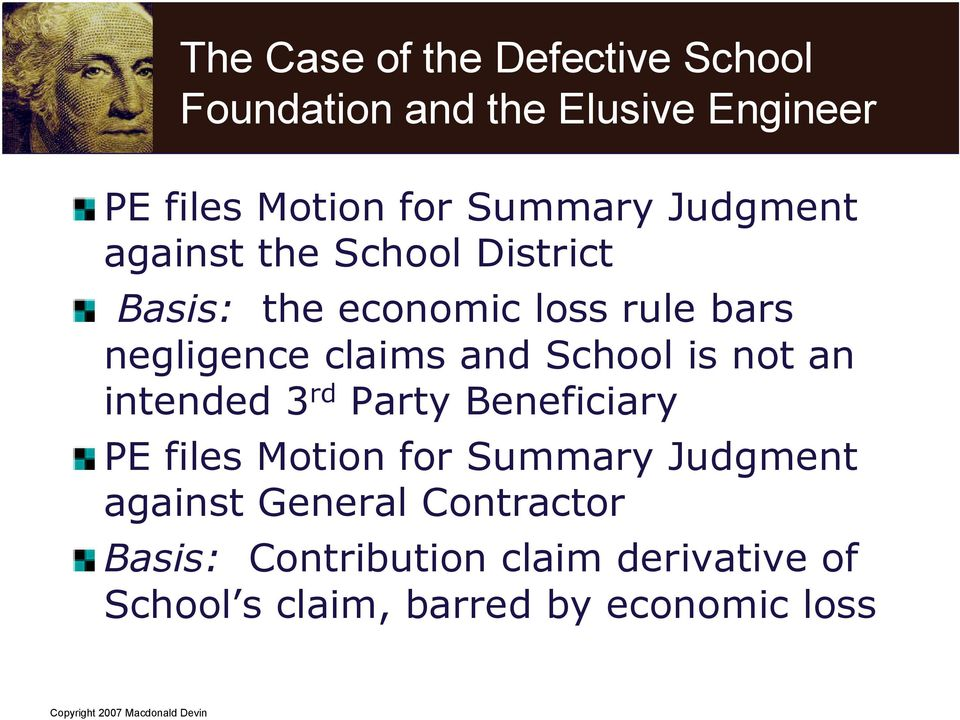 claims and School is not an intended 3 rd Party Beneficiary PE files Motion for Summary