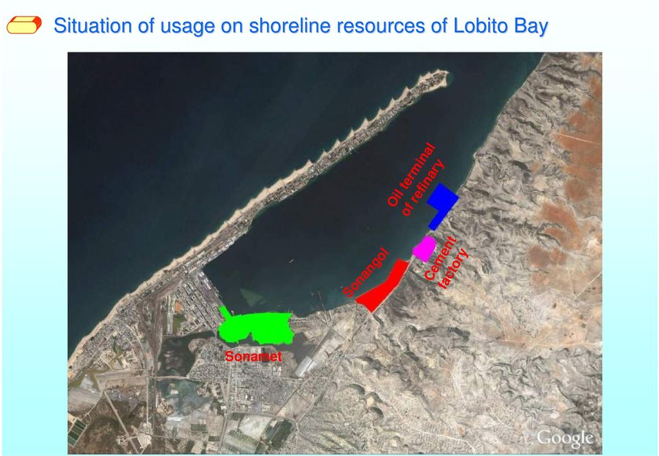 Lobito Bay Oil terminal of