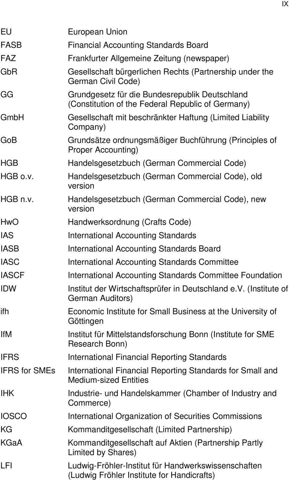 HwO IAS IASB IASC IASCF IDW ifh IfM IFRS IFRS for SMEs IHK IOSCO KG KGaA LFI European Union Financial Accounting Standards Board Frankfurter Allgemeine Zeitung (newspaper) Gesellschaft bürgerlichen