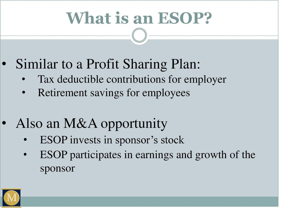 contributions for employer Retirement savings for employees