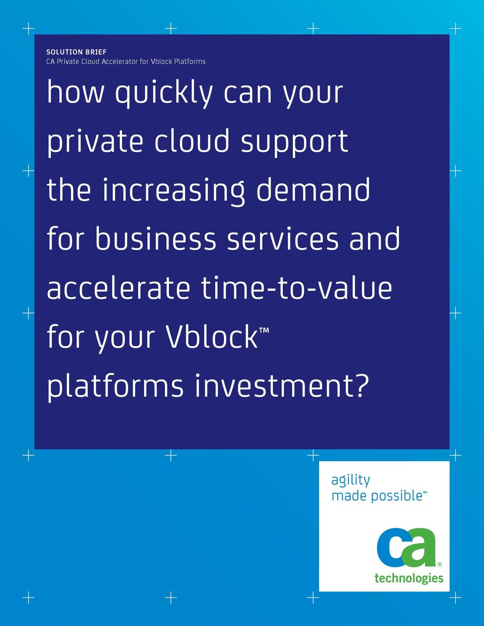 increasing demand for business services and accelerate