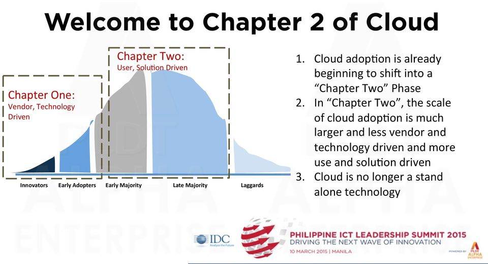 Cloud adop1on is already beginning to shi] into a Chapter Two Phase 2.