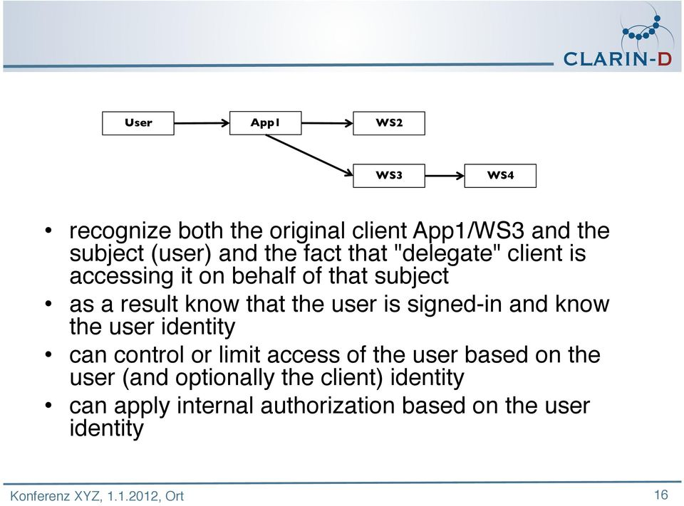 user is signed-in and know the user identity can control or limit access of the user based on the