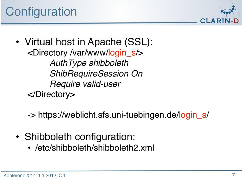 Require valid-user </Directory> -> https://weblicht.sfs.