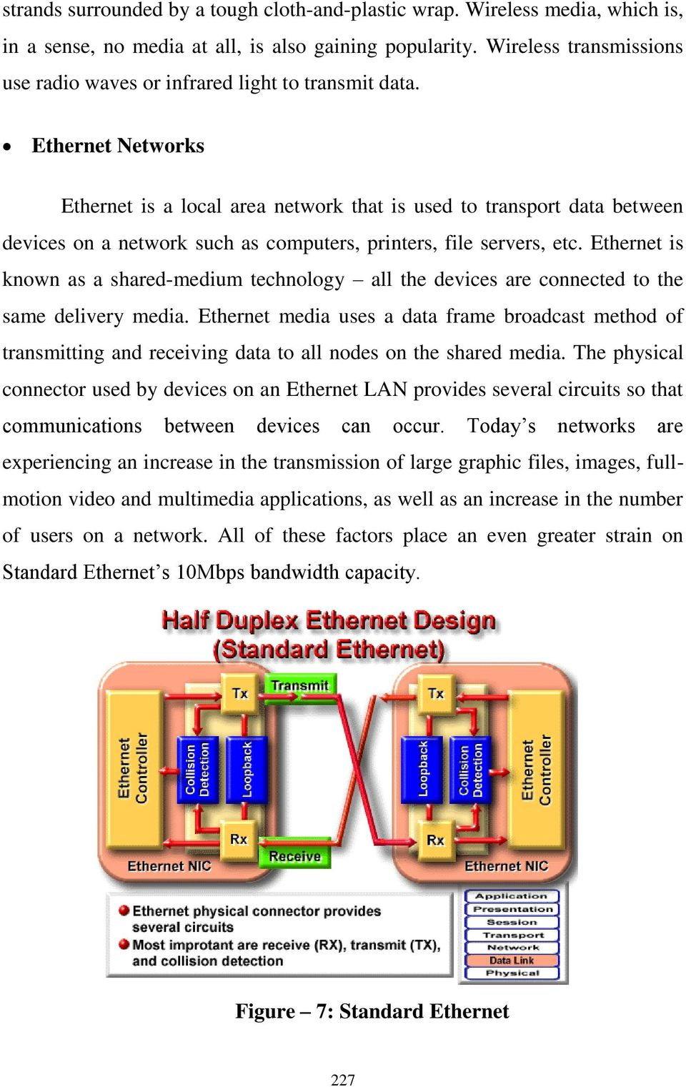 Ethernet Networks Ethernet is a local area network that is used to transport data between devices on a network such as computers, printers, file servers, etc.