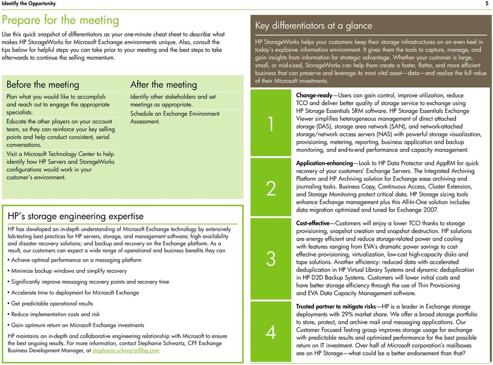 Before the meeting Plan what you would like to accomplish and reach out to engage the appropriate specialists.