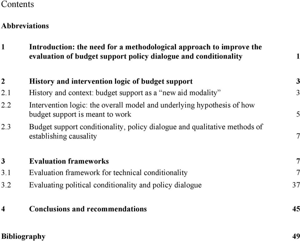 2 Intervention logic: the overall model and underlying hypothesis of how budget support is meant to work 5 2.