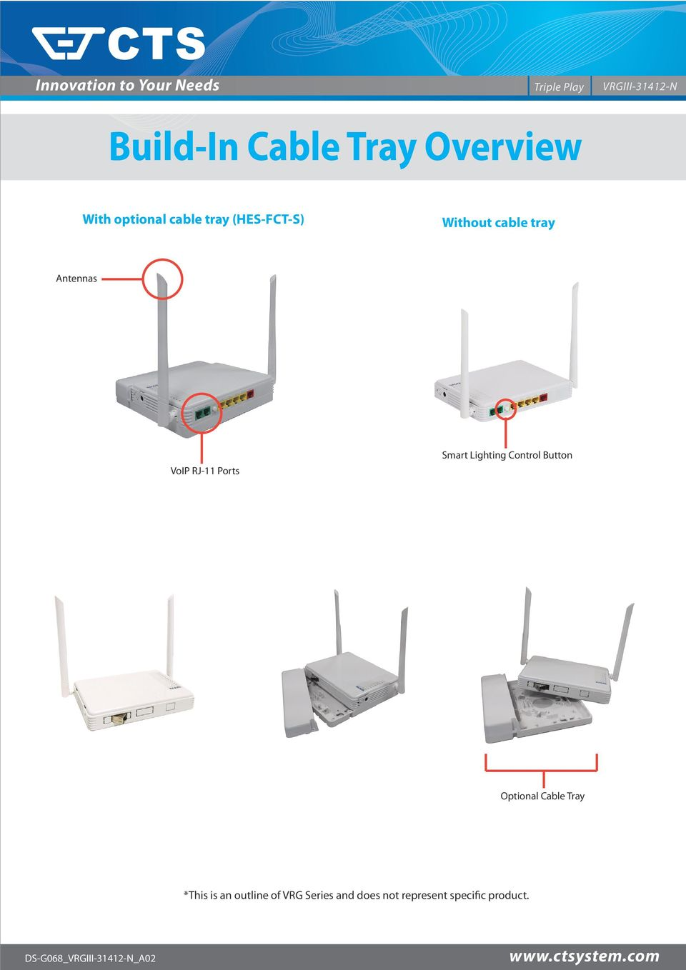 Smart Lighting Control Button Optional Cable Tray *This is