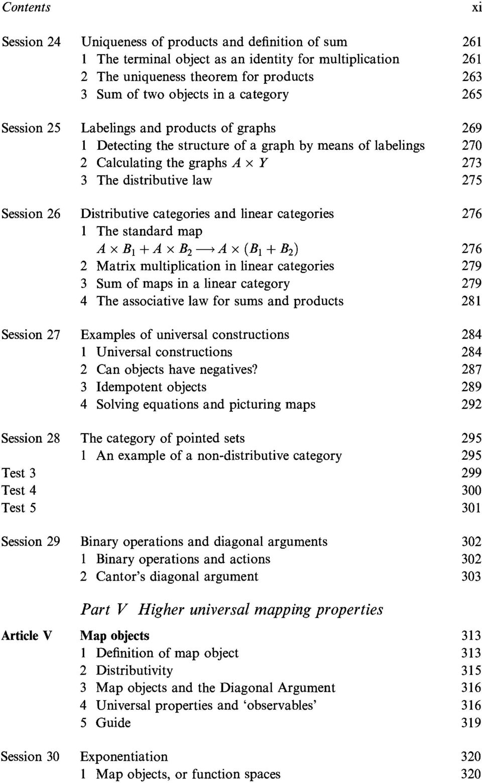 and linear categories 1 The standard map Ax B 1 + A X B2 -> A x (B 1 + B2 ) 2 Matrix multiplication in linear categories 3 Sum of maps in a linear category 4 The associative law for sums and products