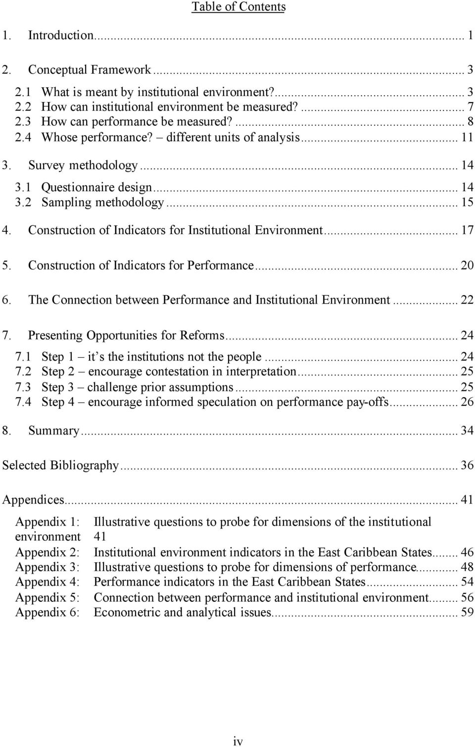 Construction of Indicators for Institutional Environment... 17 5. Construction of Indicators for Performance... 20 6. The Connection between Performance and Institutional Environment... 22 7.
