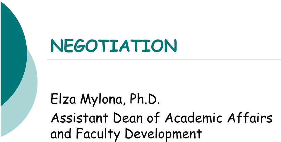 Assistant Dean of