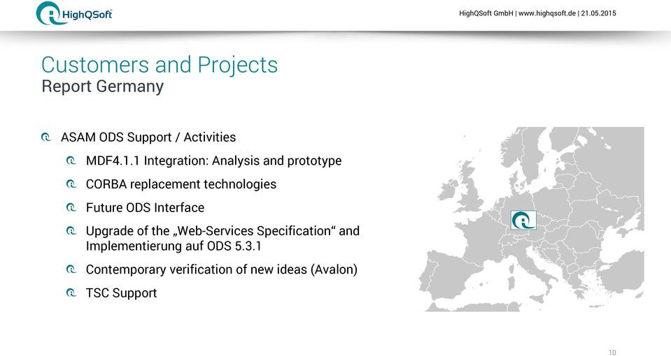 ODS Interface Upgrade of the Web-Services Specification and Implementierung