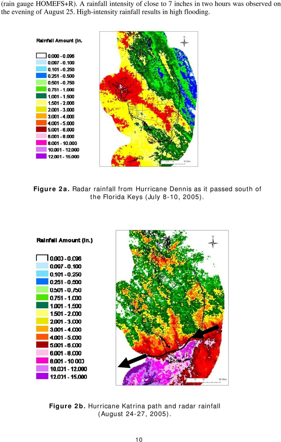 August 25. High-intensity rainfall results in high flooding. Figure 2a.