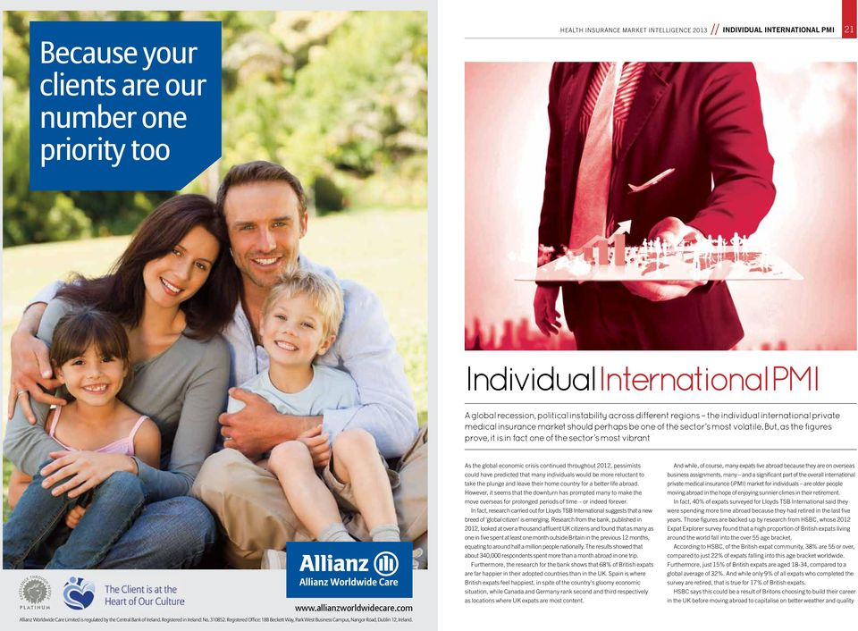 com Allianz Worldwide Care Limited is regulated by the Central Bank of Ireland. Registered in Ireland: No. 310852.