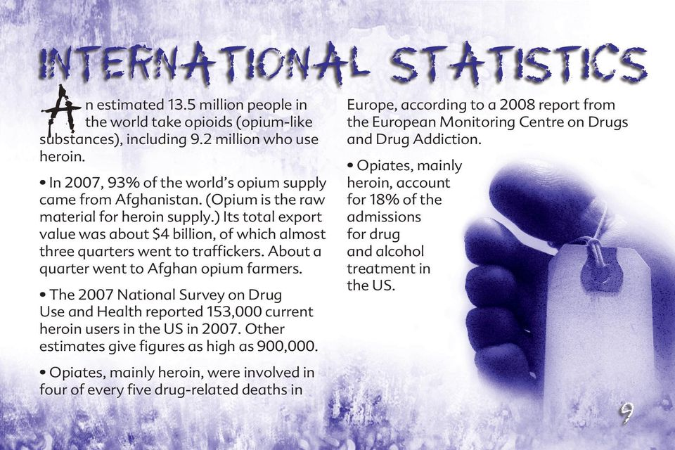 ) Its total export value was about $4 billion, of which almost three quarters went to traffickers. About a quarter went to Afghan opium farmers.