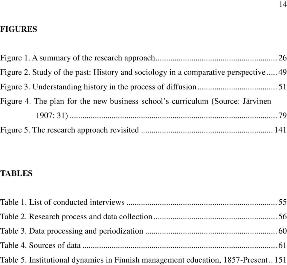 .. 79 Figure 5. The research approach revisited... 141 TABLES Table 1. List of conducted interviews... 55 Table 2. Research process and data collection.