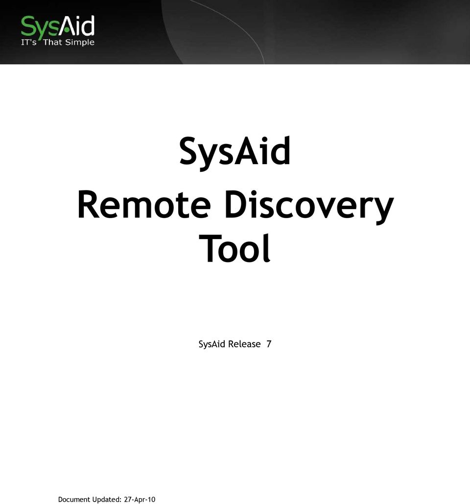 SysAid Release 7