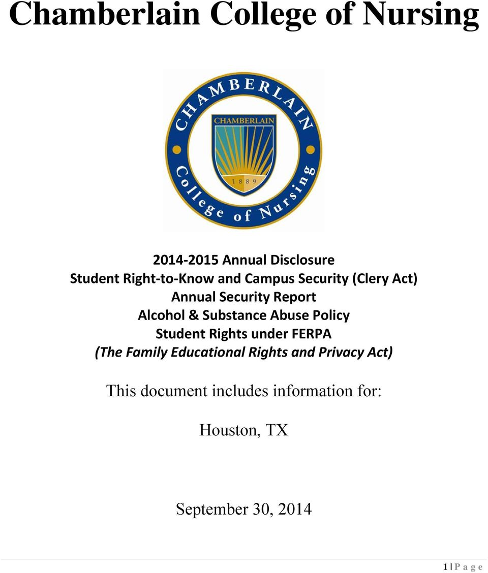 Policy Student Rights under FERPA (The Family Educational Rights and Privacy