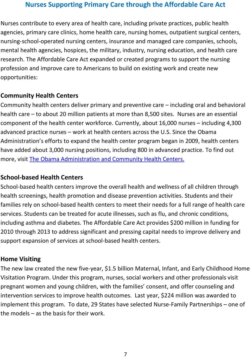 nursing education, and health care research.